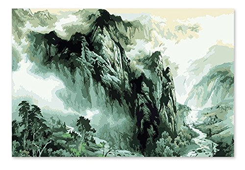 Diy Paint By Number Kits Acrylic Painting on Canvas For Adults Kids Beginner Wall Décor-Mountain 2 16x20inch