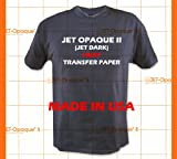 Jet-Opaque II Iron on Heat Transfer Paper/Dark Color 50 Sheets 8.5x11 offers