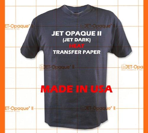 Jet-Opaque II Iron on Heat Transfer Paper/Dark Color 50 Sheets 8.5x11 (Transfer Heat World Paper)