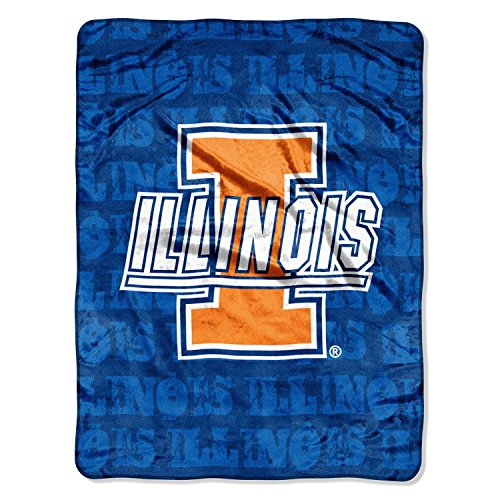 NCAA Officially Licensed University of Illinois Fighting Illini Micro-rachel Plush Throw Grunge - University Northwest Illinois