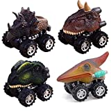 Wffo Pull Back Dinosaur Cars, Dinosaur Model Mini Toy Car Creative Gifts for Children's Day 3-12...