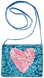 Girls Sequined Square Heart Bag Turquoise