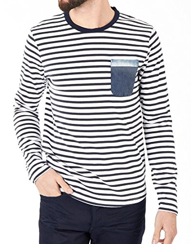 Navy Striped Shirt for sale | Only 3 left at -65%