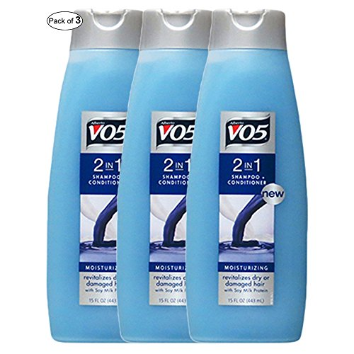 V05 Moisturizing 2 In 1 Shampoo+Conditioner With Soy Milk Protein(370ml) (Pack of (Soy Protein Shampoo)
