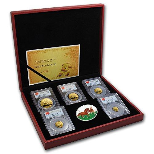 CN 2014 China 5-Coin Gold Panda Prestige Set MS-70 PCGS (FS) MS-70 -