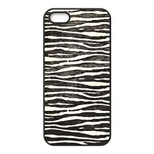 zebra print pattern pale iPhone 5,5S Case Black