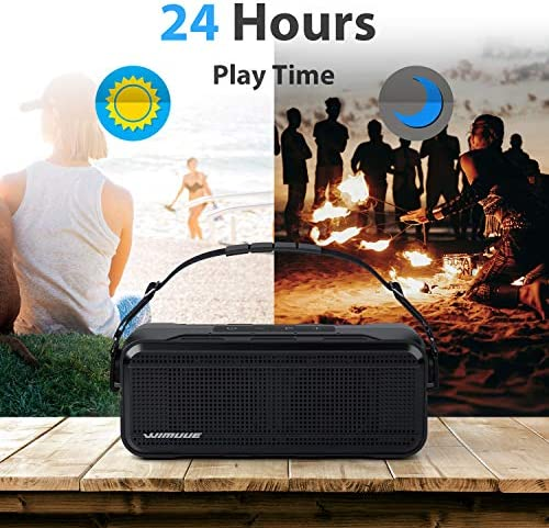 Bluetooth Speakers, WIMUUE 40W Loud Wireless Portable Speaker Built-in 8000mAh Power Bank, IPX6 Waterproof, TWS, TF Card, Equalizer, Bluetooth V5.0, Indoor & Outdoor 51djPmxpbXL