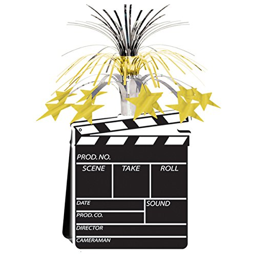 Movie Set Clapboard Centerpiece 15in. Pkg/12 by Beistle