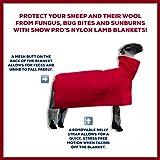 Show Pro Red Nylon Sheep Blanket Mesh Butt for Show