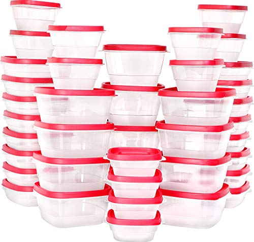 Utopia Kitchen 80 Piece Plastic Food Storage Container Set [40 Container and 40 Lids]