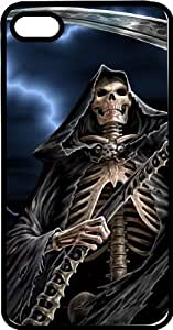 taoyix diy Grim Reaper & His Sickle Black Rubber Case for Apple iPhone 5 or iPhone 5s