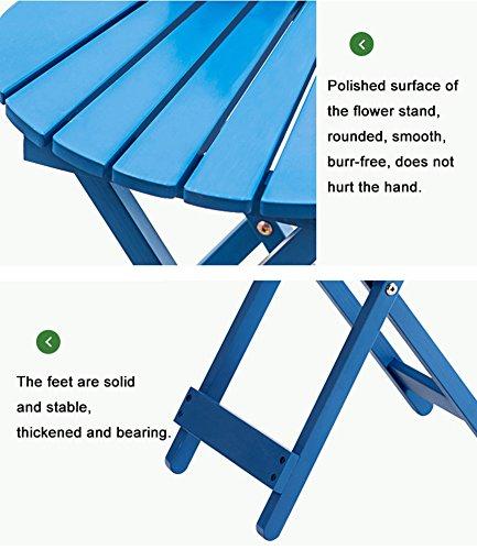 ZJM- Fan-Shaped Flower Shelf Foldable Flower Pot Rack (Color : Blue) by Flower stand (Image #4)