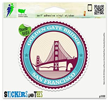 Amazon.com: Golden Gate Bridge San Francisco Vinyl Car Bumper Window Sticker 2