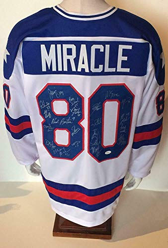 1980 Usa Miracle Hockey Team Autographed Signed Memorabilia Jersey 20 Auto Jim Craig Mike Eruzione - JSA Authentic (1980 Usa Autographed Jersey Hockey)