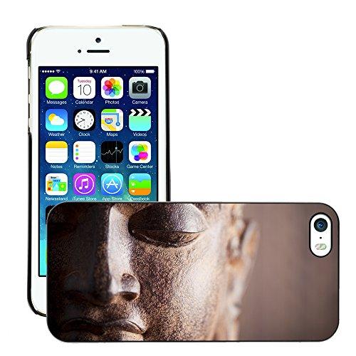 Premio Sottile Slim Cassa Custodia Case Cover Shell // V00001633 tête buddha // Apple iPhone 5 5S 5G
