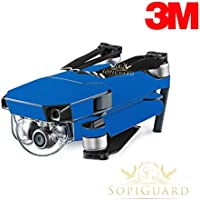 SopiGuard 3M Matte Blue Metallic Precision Edge-to-Edge Coverage Vinyl Skin Controller Battery Wrap for DJI Mavic Pro