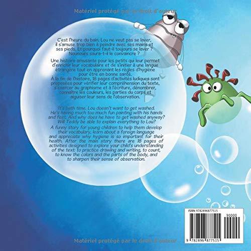 C'est l'heure du bain, Lou ! - It's bath time, Lou! (Lou & Teddy) (French Edition)