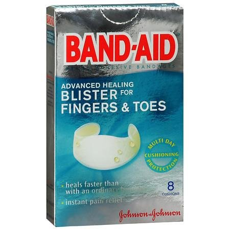 Band-Aid Brand Adhesive Bandages, Advanced Healing Blister Cushions for Fingers & Toes, Special 2 Pack ( 16 Count Total ) (Band Aid Advanced Healing Blister Cushions)