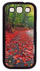 Rainy Autumn Forest Custom Samsung Galaxy S3 I9300 Case Cover Polycarbonate Black