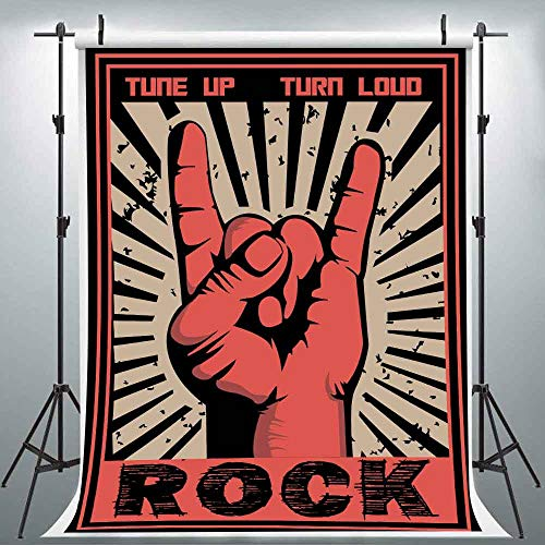 6X9FT Rock Music Backdrop for Photography Rock and