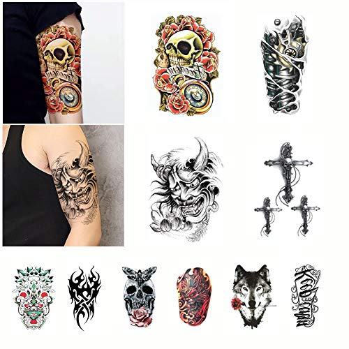 Honch Temporary Tattoo Stickers Semi Permanent Inkbox Tattoo 10 Sheets for Men Women