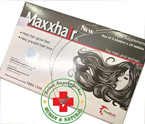 2 Boxes - Maxxhair - Helps For Hair Strong Enhances The Health Of The Hair Prevent hair loss, hair growth, regrow your hair, food for hair growth