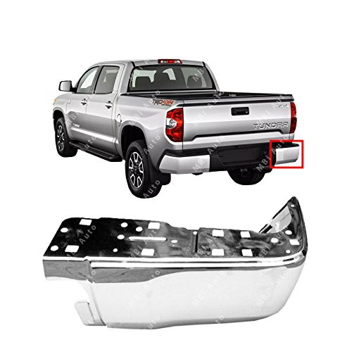 MBI AUTO - Chrome, Steel Passenger's RH Bumper End Cap for 2014-2017 Toyota Tundra 14-17, TO1105123