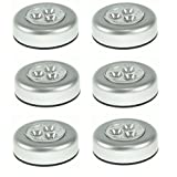 PIXNOR 6pcs Battery Powered Round Stick-on Click
