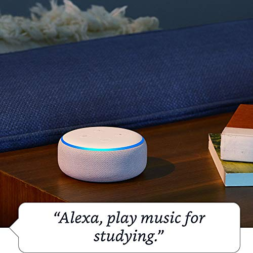 Echo Dot (3rd Gen) - Smart speaker with Alexa - Sandstone Fabric