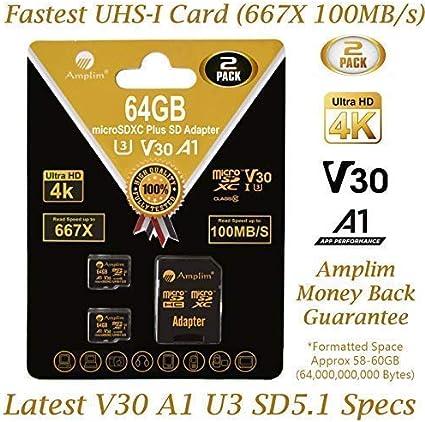 Class 10, UHS-I Professional Kingston 64GB Asus ZenPad Z10 MicroSDXC Card with custom formatting and Standard SD Adapter!
