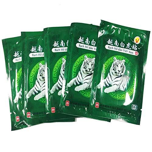 MQ Patch de bálsamo del tigre Blanco Vietnam calefacción antidolor aliviar dolores de espalda cuello hombro piernas muscular lumbar Tratamiento de Artritis Reumatismo ( 8 Patches/bolsita)