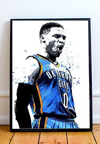 Russell Abstract Print - Russell Westbrook Limited Poster Artwork - Professional Wall Art Merchandise (More Sizes Available) (20x24)