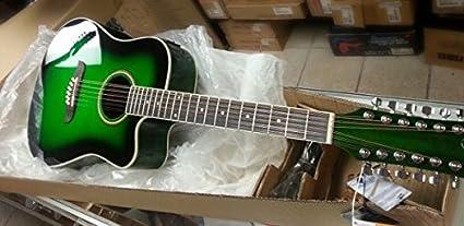 Black Oscar Schmidt OD312CEB 12-Strings Acoustic-Electric Guitar