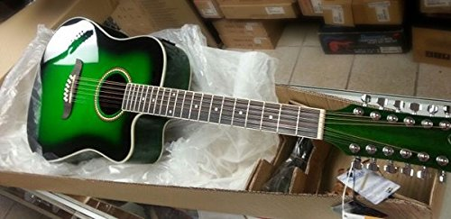 Oscar Schmidt OD312CE 12-Strings Acoustic-Electric Guitar-GREENBURST