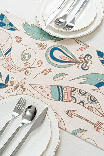 """KEY SPRING Tribal Table Runners (72 X12 Inch) for Wedding Table Decor, Bridal Shower, Birthday Party, Housewarming Gift… - Material: Cotton & Linen Size: 12"""" X 72"""" (30cm X 180cm) Technology:High Temperature Digital Printing - table-runners, kitchen-dining-room-table-linens, kitchen-dining-room - 51djSmB0ciL -"""