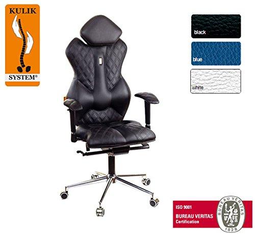 Kulik System© ROYAL Luxury Italian Höchste Qualität Ergonomic Büro / Hause Computer Schreibtisch Lehnstühle Stühle Sessel (Schwarz)