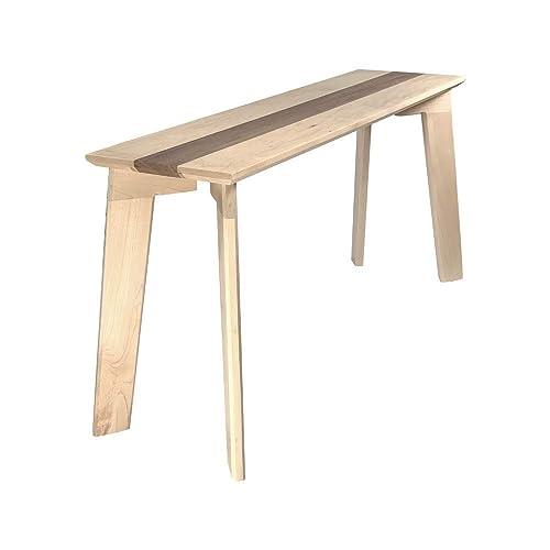 Amazon Com Bench Wood Modern By Cw Furniture Maple Walnut Oak Hardwood Custom Handmade Entryway Shoe Seat Hallway Dining Table Bedroom Custom Handmade Handmade