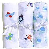 Premium Muslin Baby Swaddle Blanket For Deeper & Better Sleep. 3 Pack Large ...
