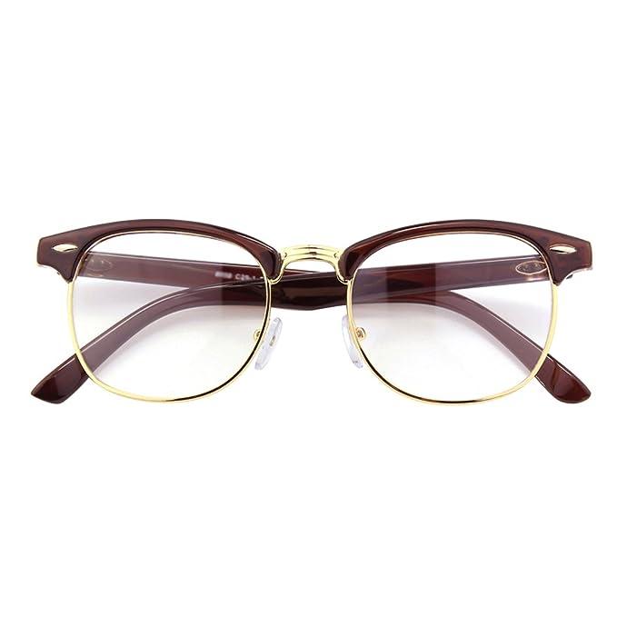 362dbe141e94e CGID CN56 Retro Anteojos Lente Claro Gafas Para Mujer y Hombre ...