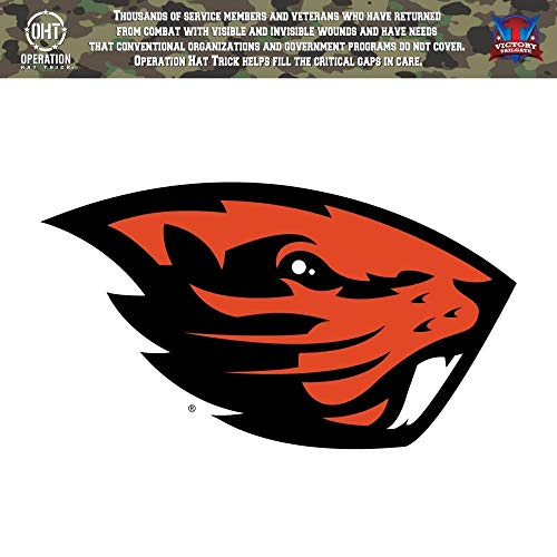 (Victory Tailgate Oregon State Beavers Operation Hat Trick OHT Die Cut Vinyl Decal (12)