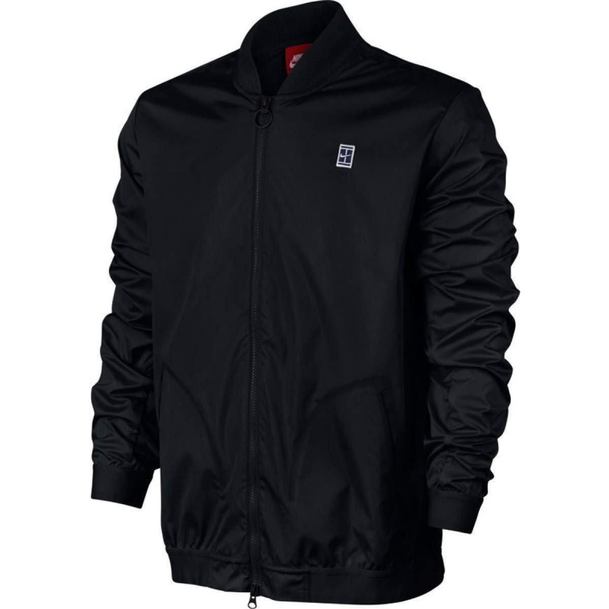 Nike Men's Court Bomber Tennis Jacket (Small, Black/White)