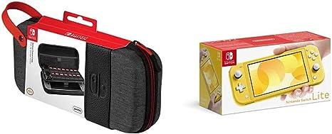 Nintendo Switch Lite - Consola Color Amarillo + Funda Deluxe Travel Case Edición Elite - PDP: Amazon.es: Videojuegos