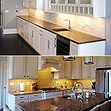 Under Cabinet LED Lighting Kit Plug in,6 pcs 12 Inches Cabinet Light Strips, 31W, 2000 Lumen, Super Bright, for Kitchen Cabinets Counter, Closet, Shelf Lights,Warm White 3000K-[6-Bars Kit-3000K]