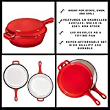 Enameled 2-In-1 Cast Iron Multi-Cooker By