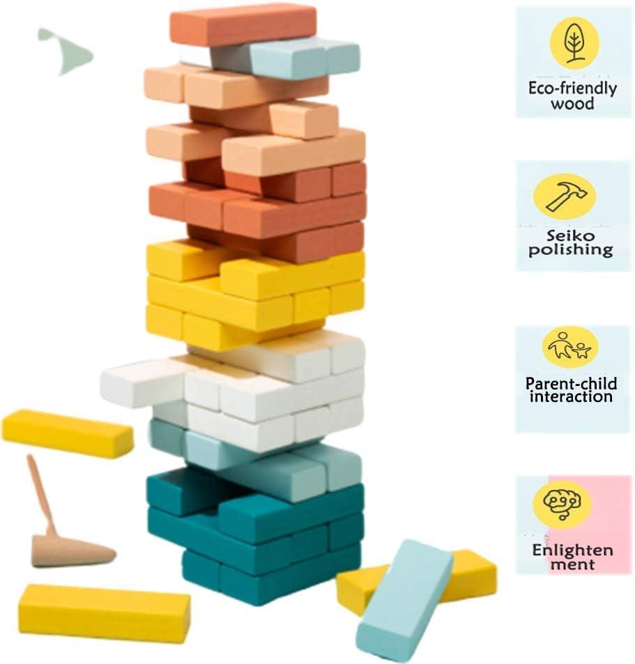 TISESIT INDOOR Juego De Apilamiento De Colores Jenga Bloques De Construcción Torre Madera Juego Juego Mesa Jenga para Niños Adultos 48 Piezas,Van Gogh Color: Amazon.es: Deportes y aire libre