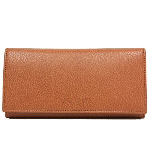 (Gucci Saddle Brown Cognac Leather Continental Flap Wallet 305282)