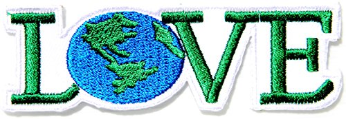 LOVE Earth Save World Peace Kid Jacket T-shirt Patch Sew Iron on Embroidered Applique Sign Badge Costume (Peace Costumes)