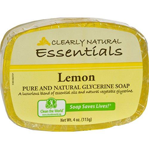 2 Pack of Clearly Natural Glycerine Bar Soap Lemon - 4 oz