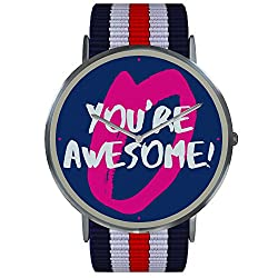 [2018 Updated Version] 'You're Awesome' Stylish Wrist Watch - Highest Quality Watches With a Meaning - Great for Teens & Adults, Men and Women - Unisex Size + Style - Limited Edition