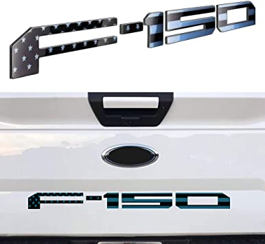 ARITA Tailgate Insert Letters for Ford F150 2018-2019 Matte Black 3M Adhesive /& 3D Raised Metal Tailgate Decal Letters
